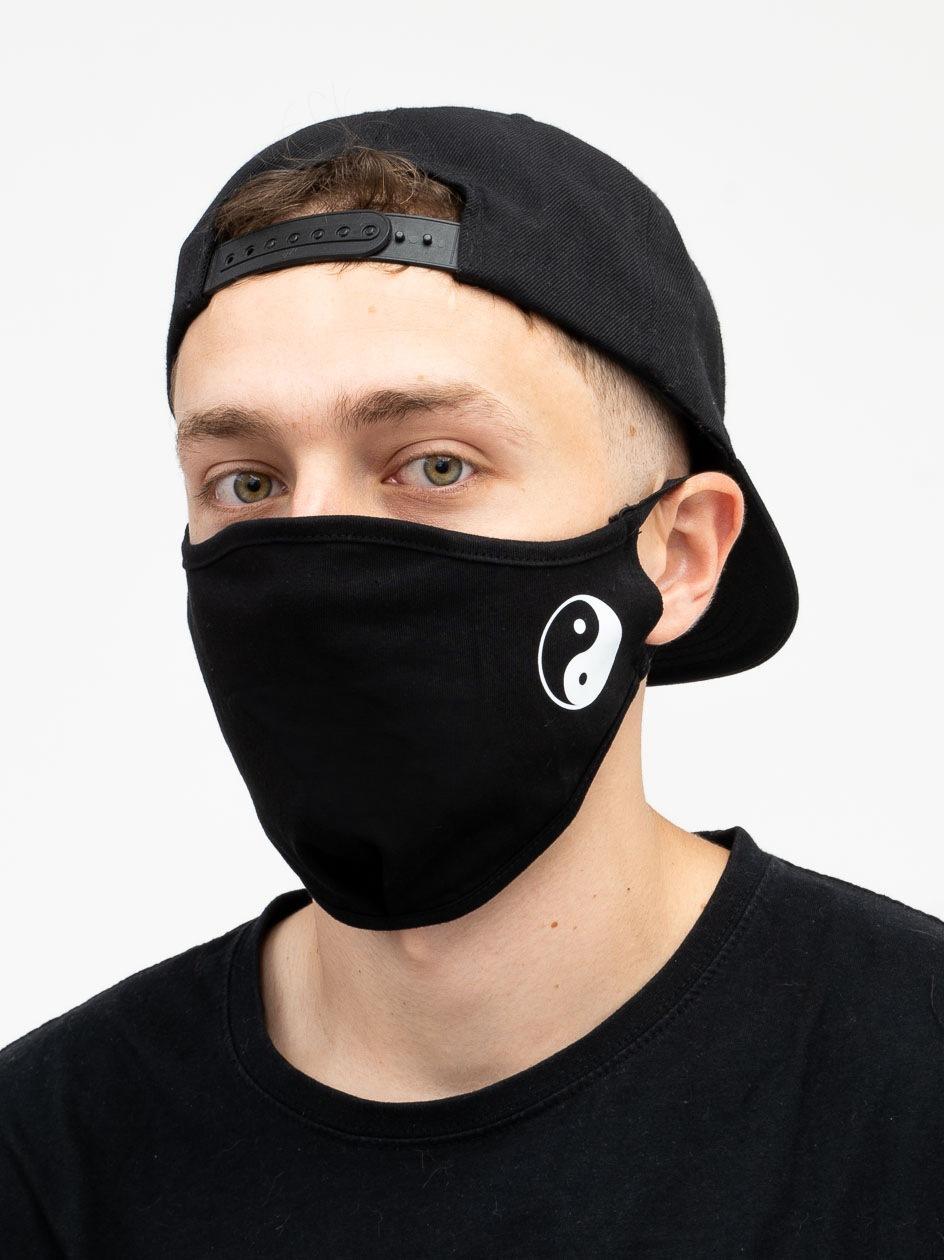 Maska Streetwearowa MyStars Yin Yang Czarna