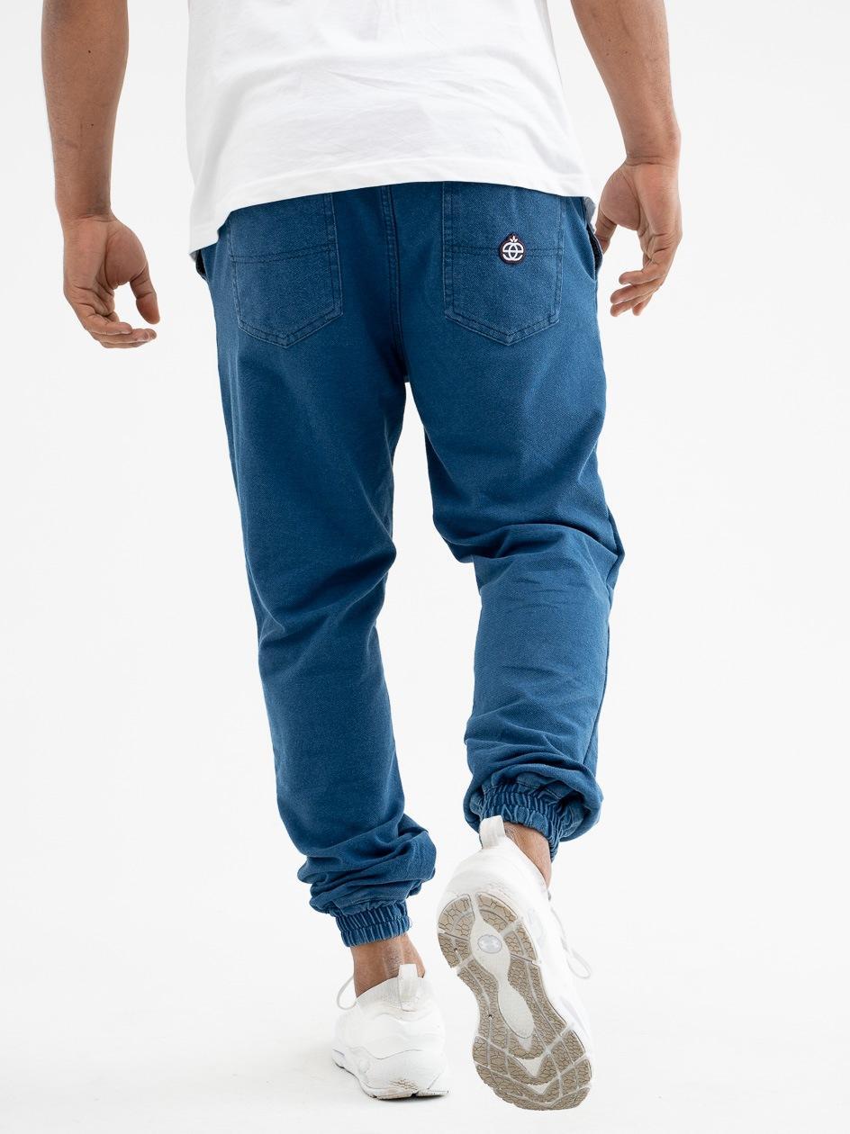 Spodnie Materiałowe Jogger Elade Icon Mini Logo Jasne Niebieskie