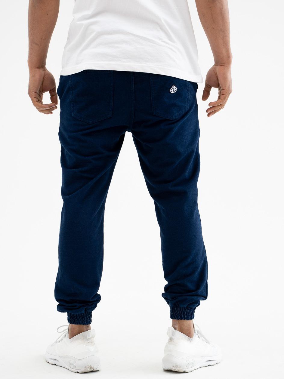 Spodnie Materiałowe Jogger Elade Icon Mini Logo Niebieskie