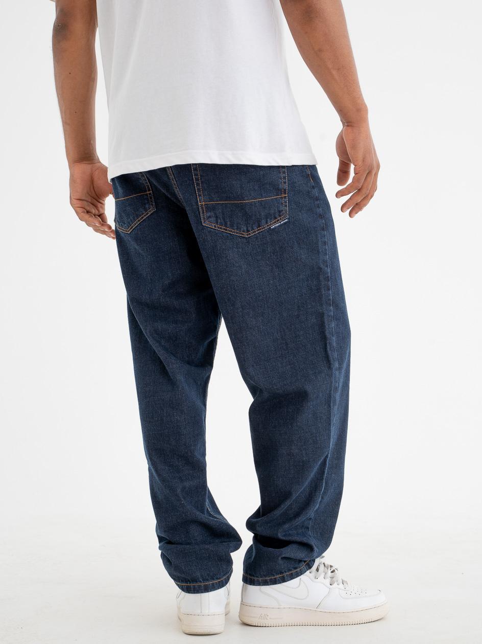 Spodnie Jeansowe Baggy Metoda Sport Line II Ciemne Niebieskie