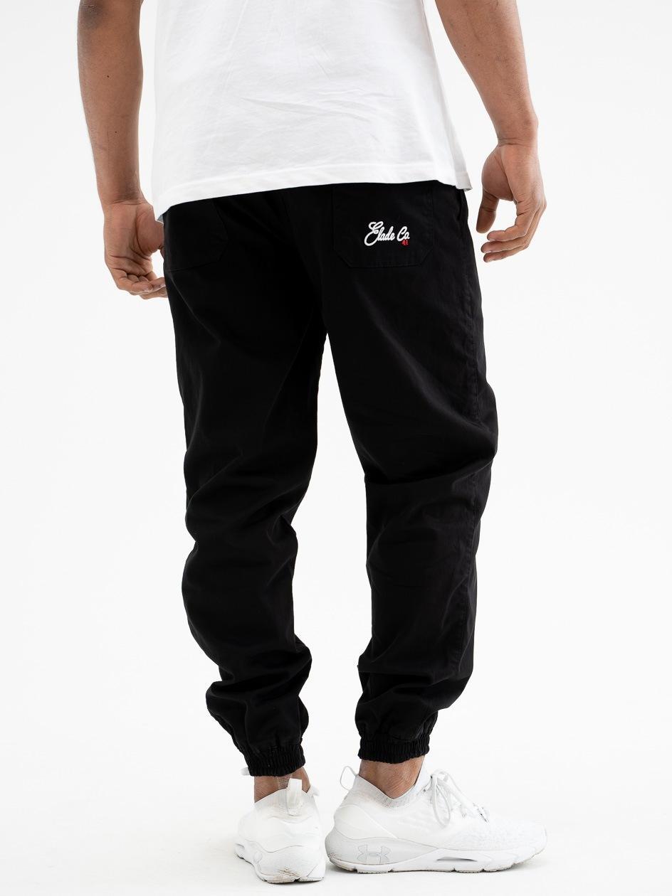 Spodnie Materiałowe Jogger Elade Baggy Czarne