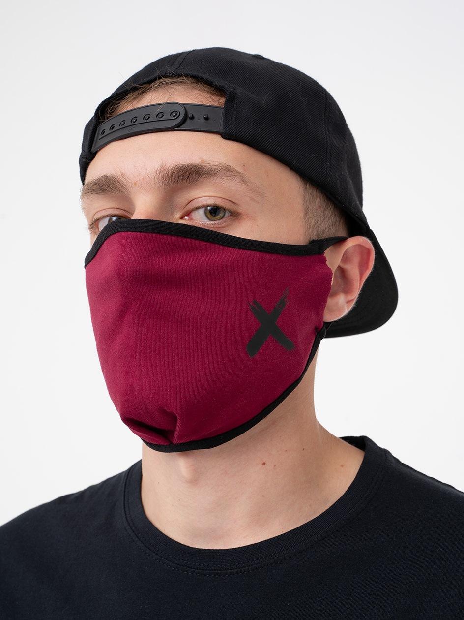 Maska Streetwearowa Point X Small X Bordowa