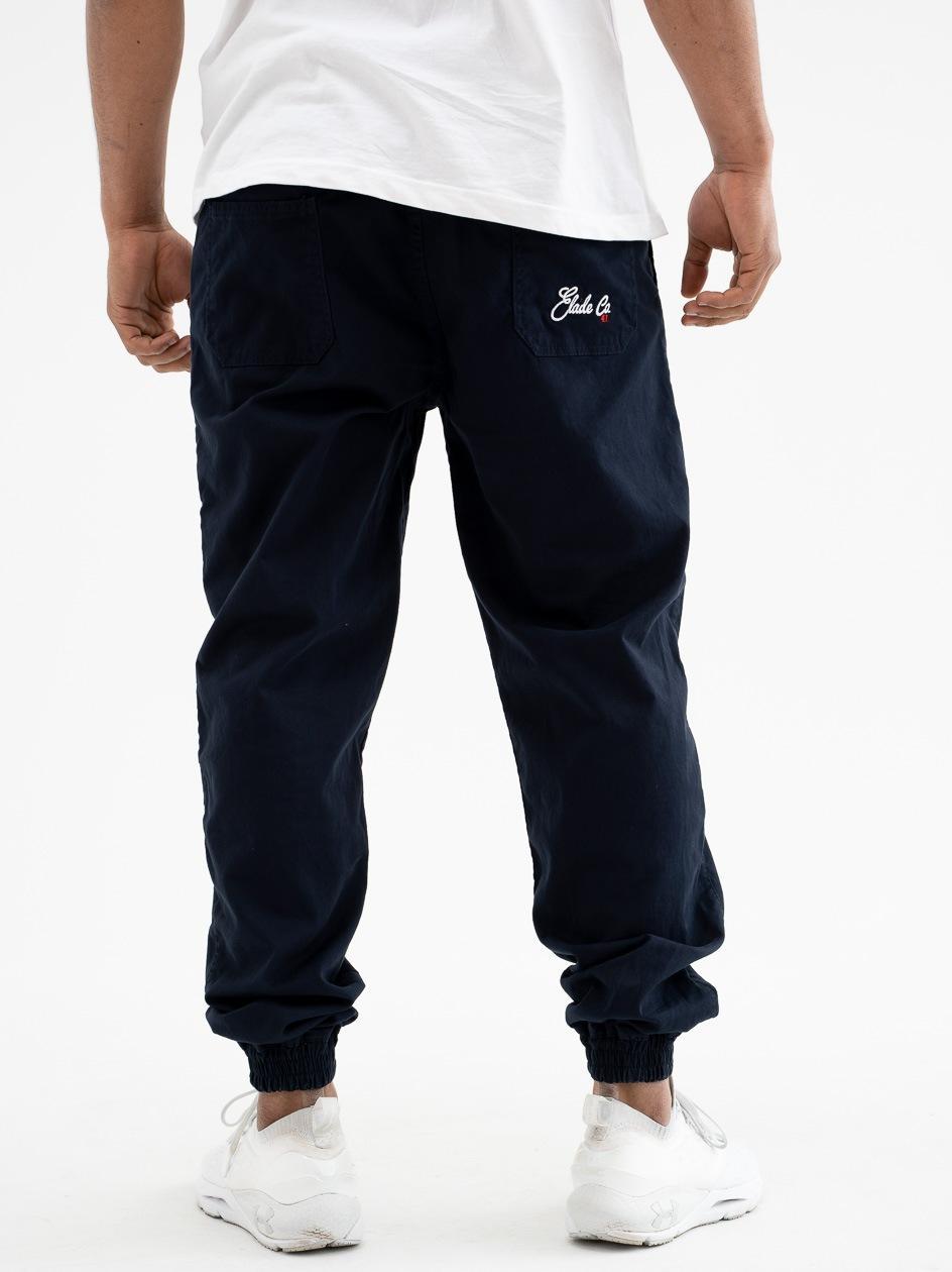 Spodnie Materiałowe Jogger Elade Baggy Granatowe