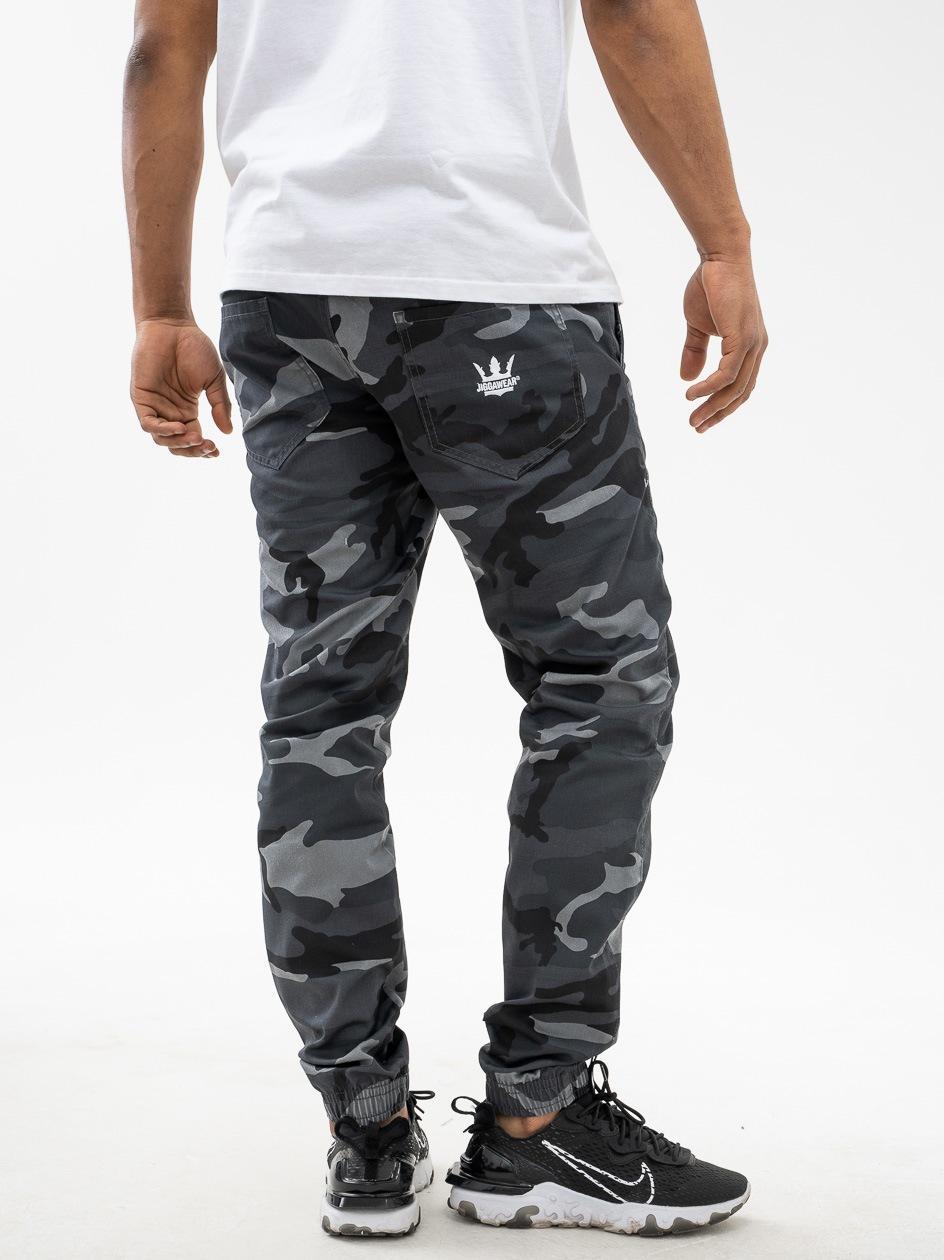 Spodnie Materiałowe Jogger Jigga Wear Crown Stone Camo