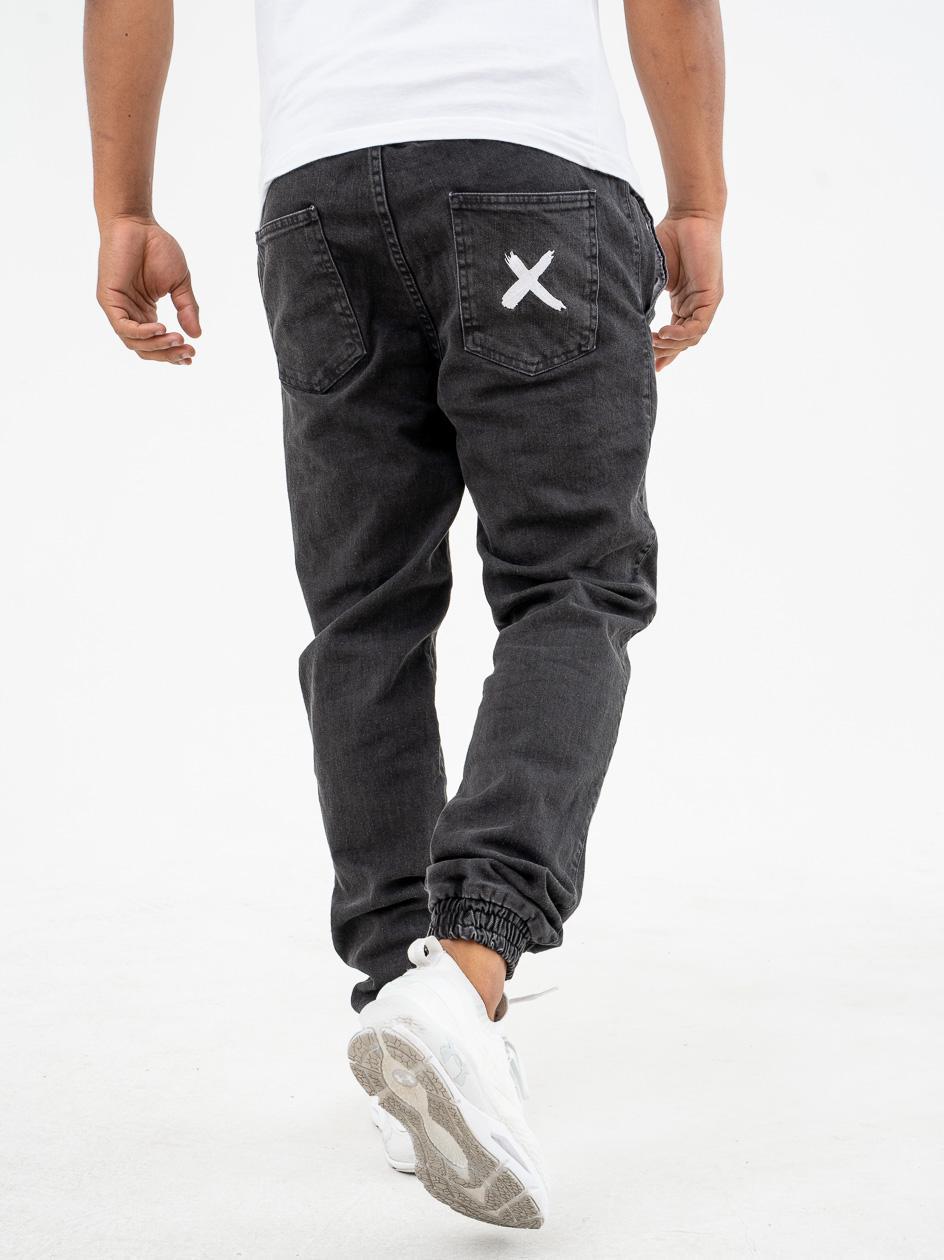 Spodnie Jeansowe Jogger Point X Pocket Czarne