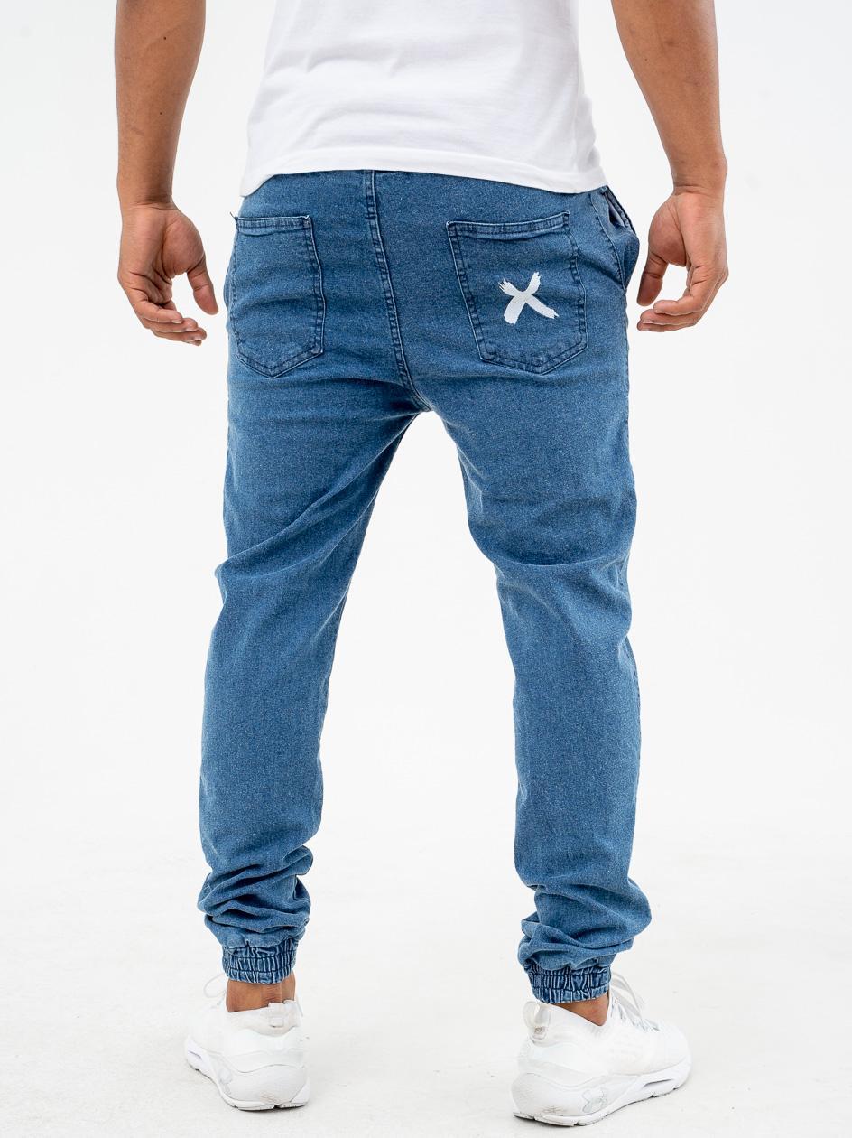 Spodnie Jeansowe Jogger Point X Pocket Jasne Niebieskie