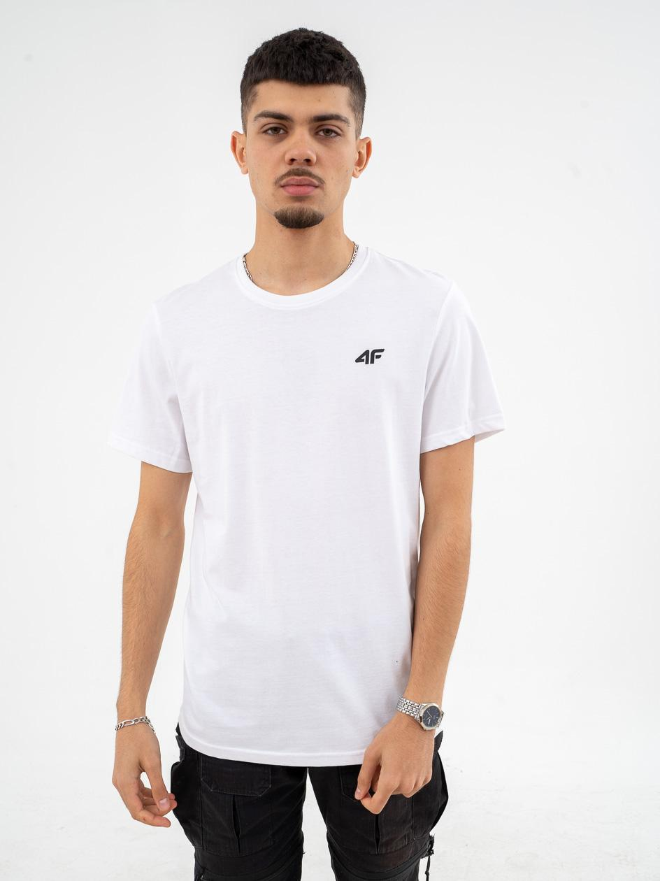 Koszulka Z Krótkim Rękawem 4F Classic Logo Biała