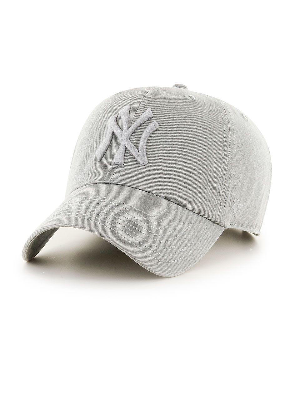 Czapka Z Daszkiem Dad Hat 47 Brand New York Yankees MLB Clean Up Jasna Szara