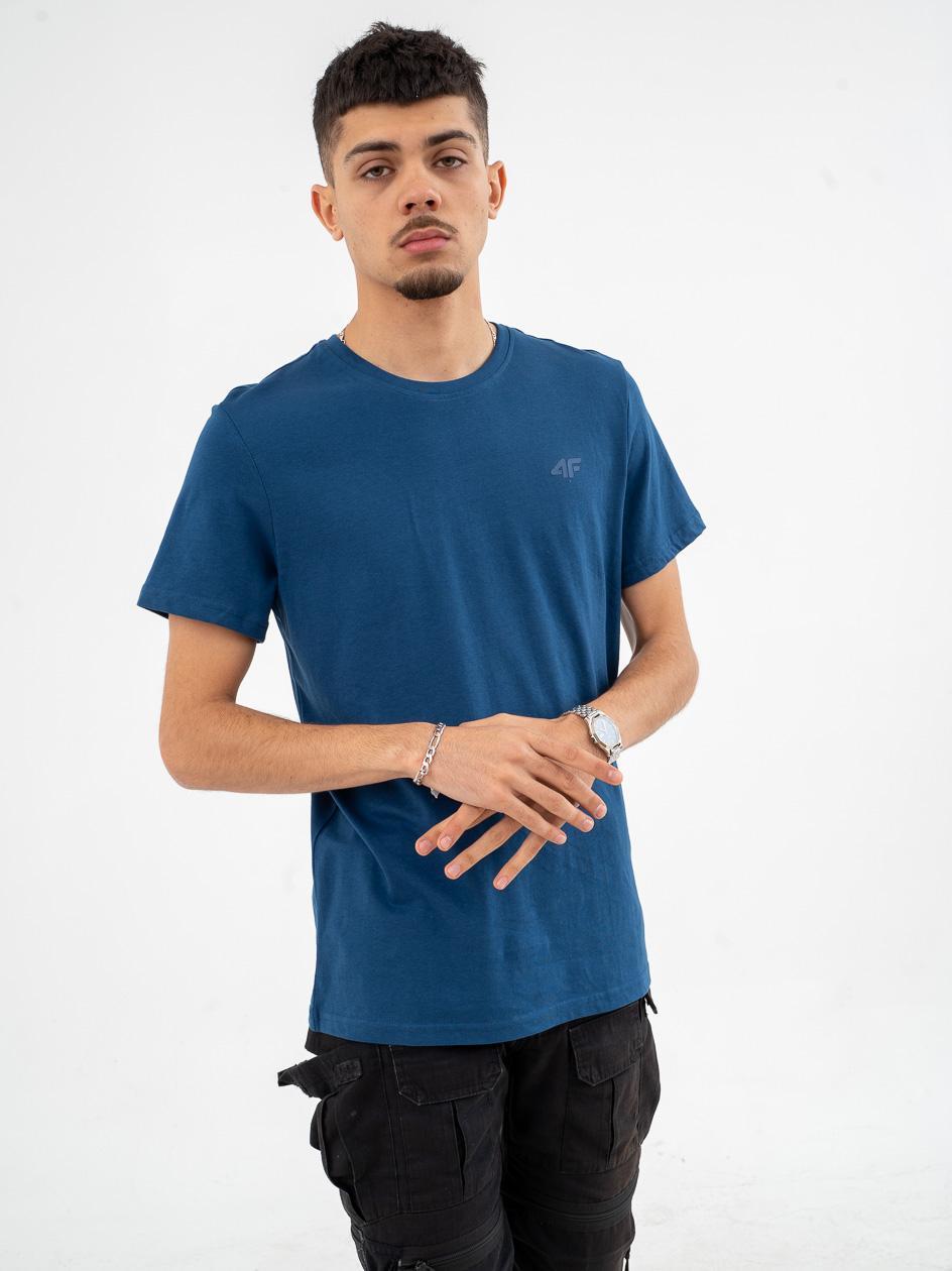 Koszulka Z Krótkim Rękawem 4F Classic Logo Denim Niebieska