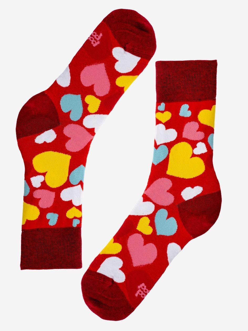 Długie Skarpety MyStars Heart Czerwone