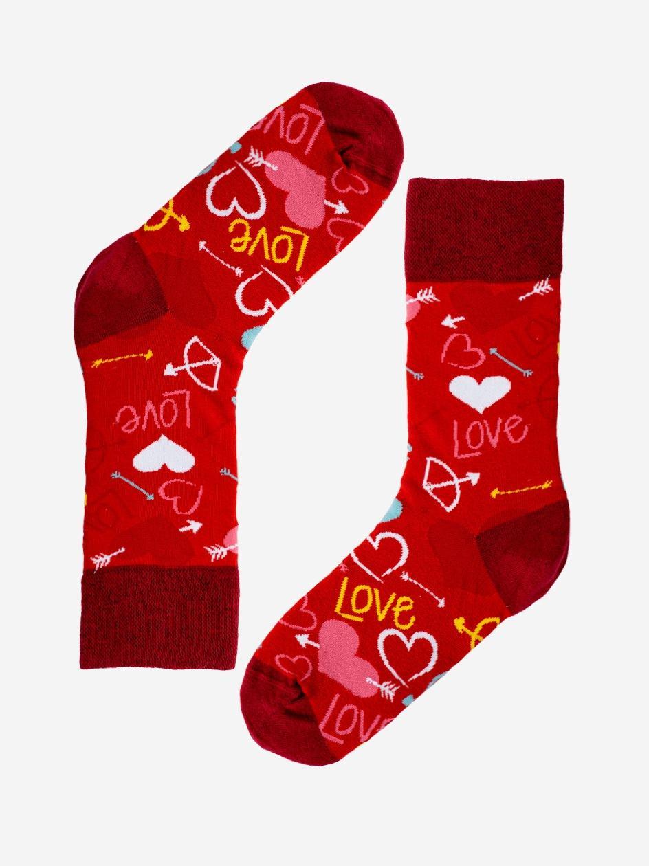 Długie Skarpety MyStars Love Czerwone