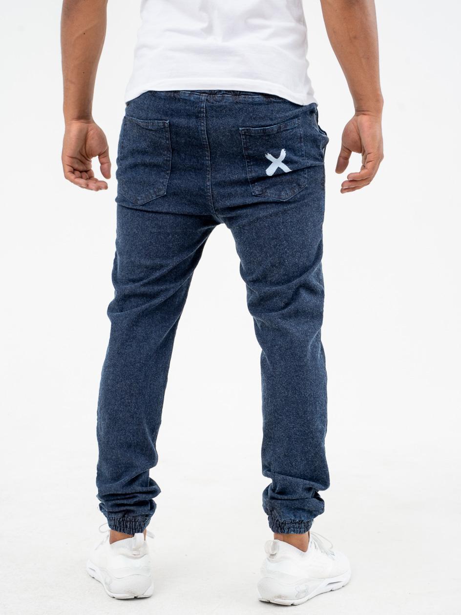 Spodnie Jeansowe Jogger Point X Pocket Niebieskie