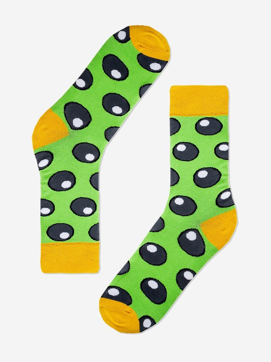 Długie Skarpety We Wzory MyStars x Blind Box Bubbles Zielone