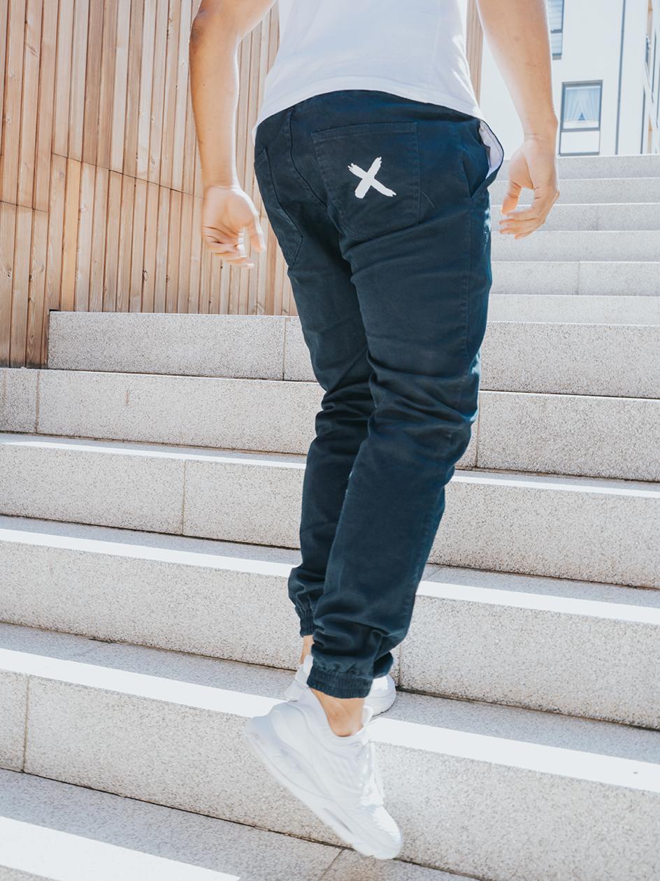 Spodnie Materiałowe Jogger Point X Pocket Granatowe