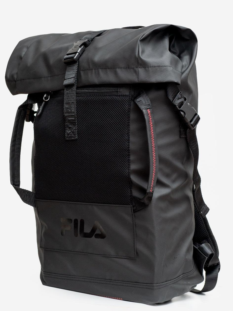 Frosted Roll Top Backpack Black