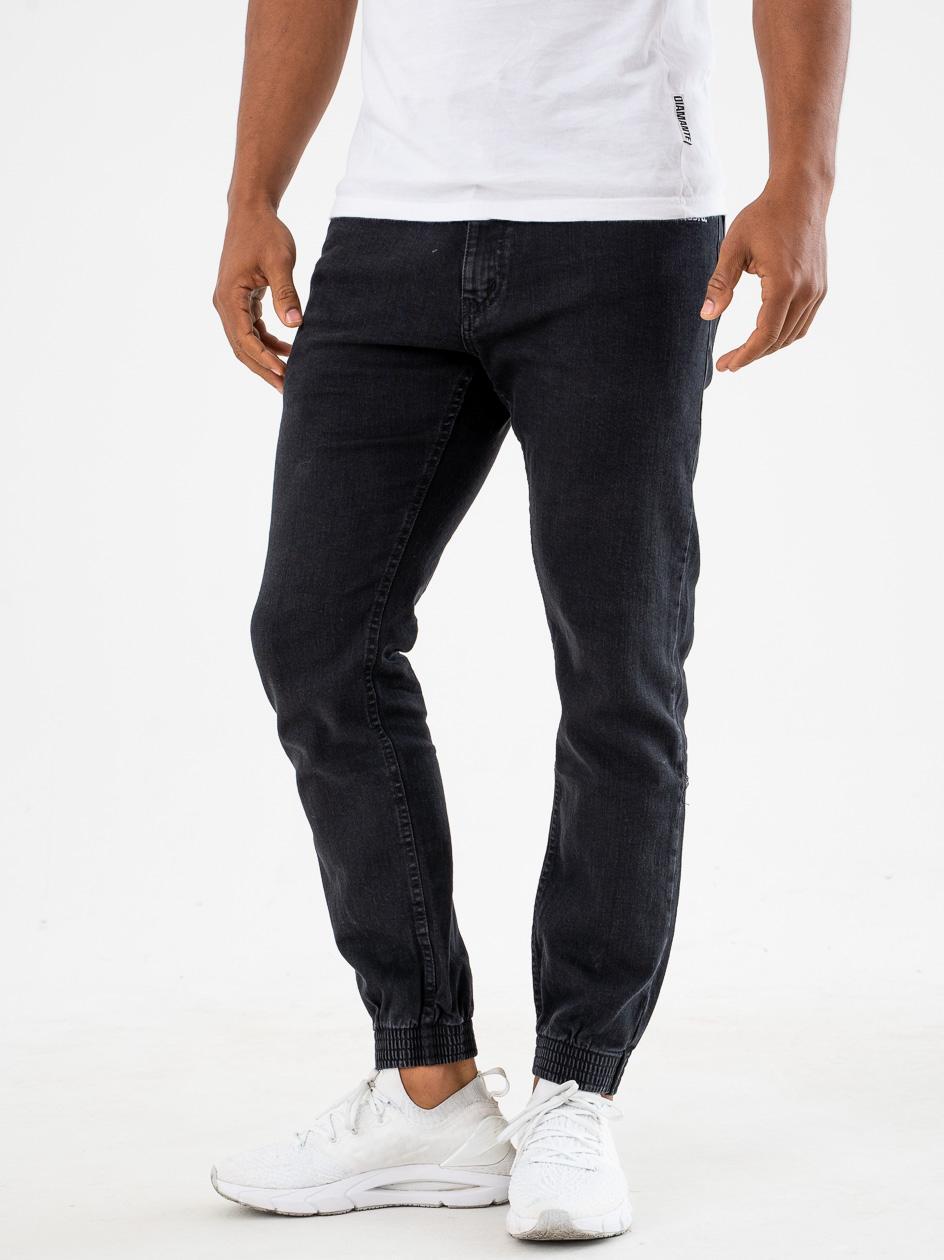 Spodnie Jeansowe Jogger Prosto Munk Czarne