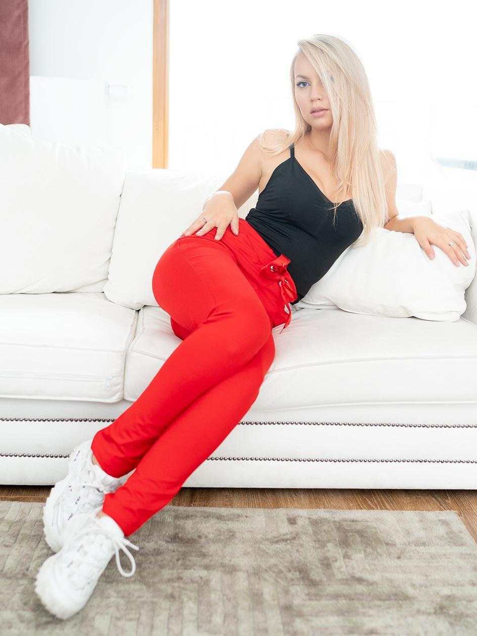 Spodnie Dresowe Point X Classic Czerwone