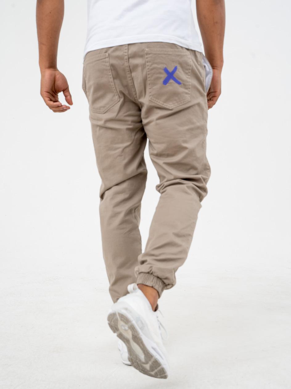 Spodnie Materiałowe Jogger Point X Pocket Khaki / Fioletowe