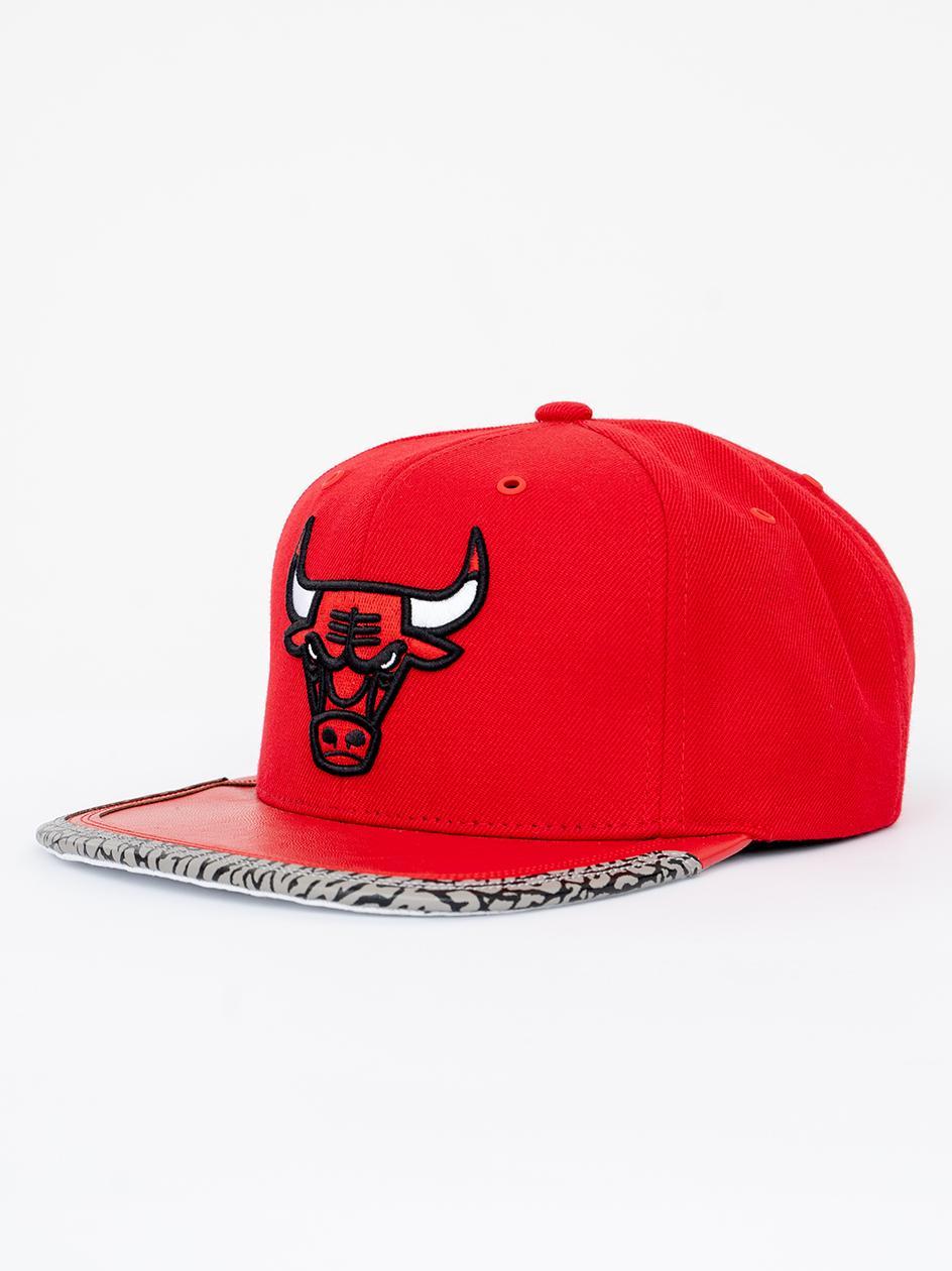 Czapka Snapback Mitchell & Ness Chicago Bulls NBA Day 3 Czerwona / Biała