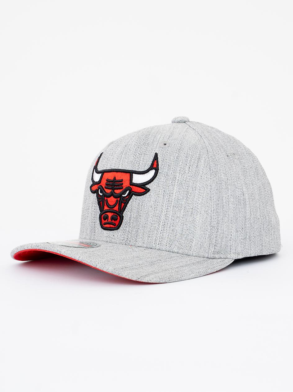 Czapka Snapback Mitchell & Ness Chicago Bulls NBA Team Heather Stretch Szara