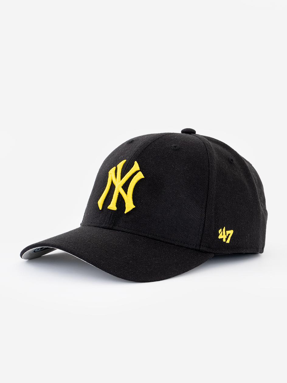 Czapka Z Daszkiem Snapback 47 Brand New York Yankees MVP Czarna / Żółta