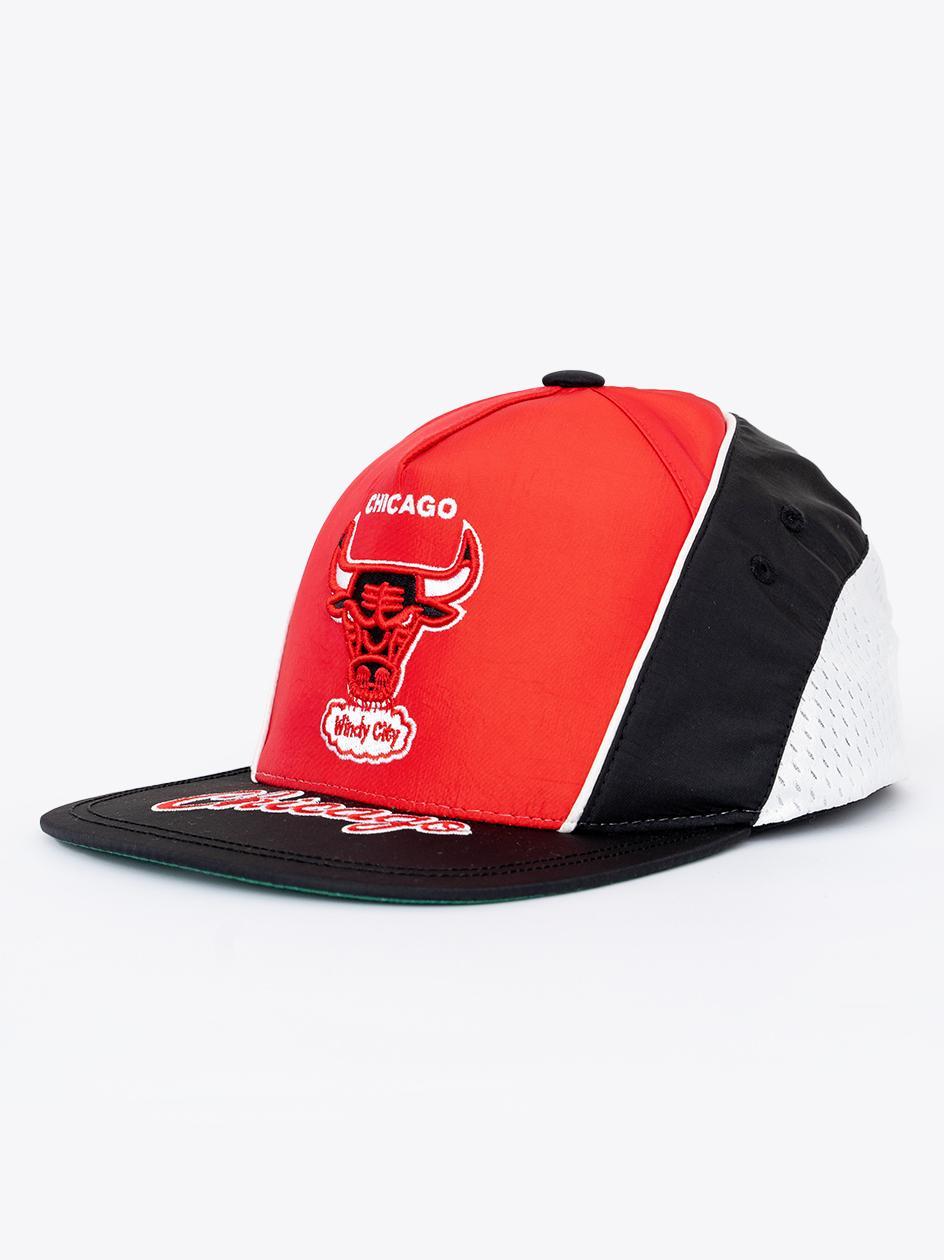 Czapka Snapback Mitchell & Ness Chicago Bulls NBA Freethrow Czarna / Czerwona