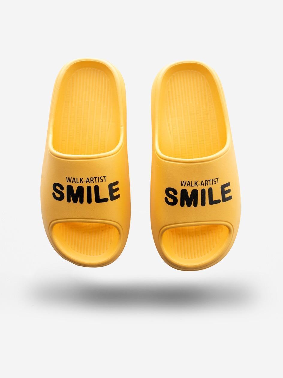 Klapki Urban Selection Smile Żółte