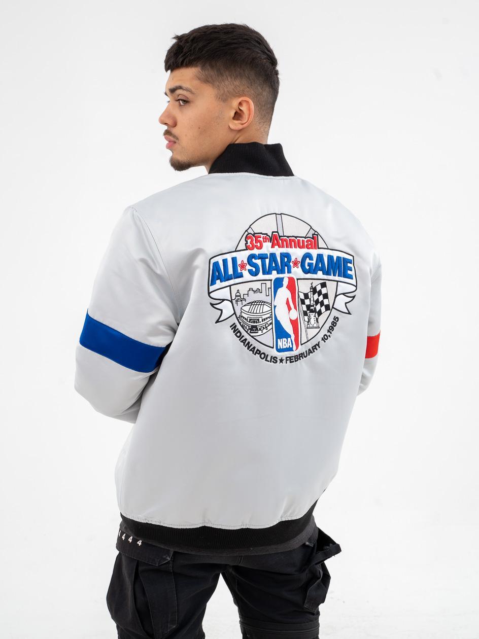 Kurtka Baseballowa Mitchell & Ness NBA All Star Heavyweight Srebna