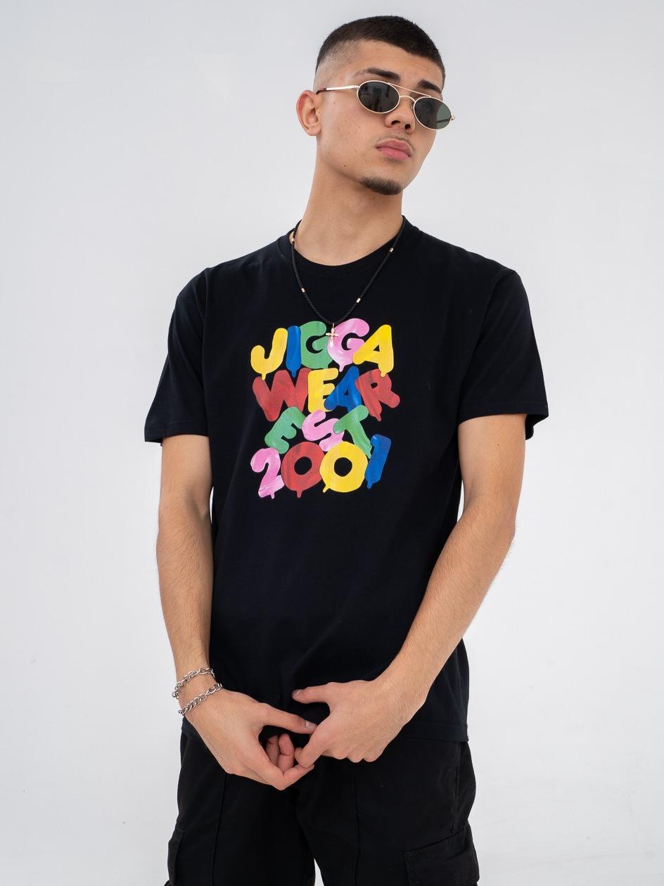 Koszulka Z Krótkim Rękawem Jigga Balloons Czarna