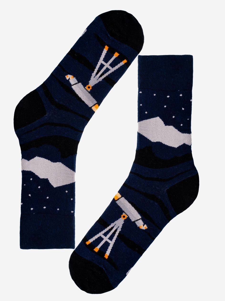 Długie Skarpety MyStars Astrology Ciemne Niebieskie