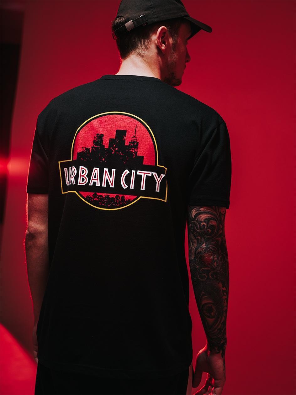 Koszulka Z Krótkim Rękawem Urban City Urban Park Czarna