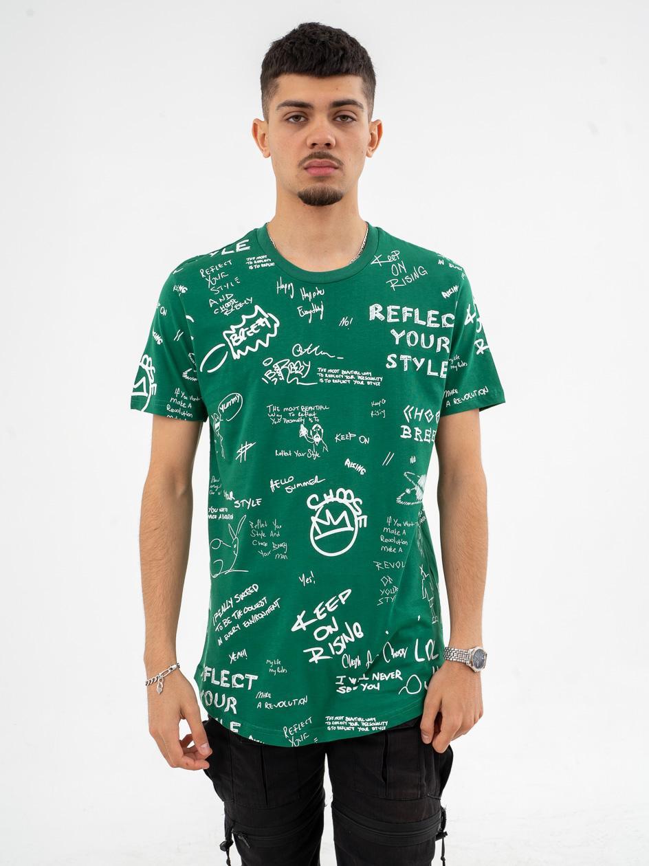 Koszulka Z Krótkim Rękawem Breezy Drawing Zielona