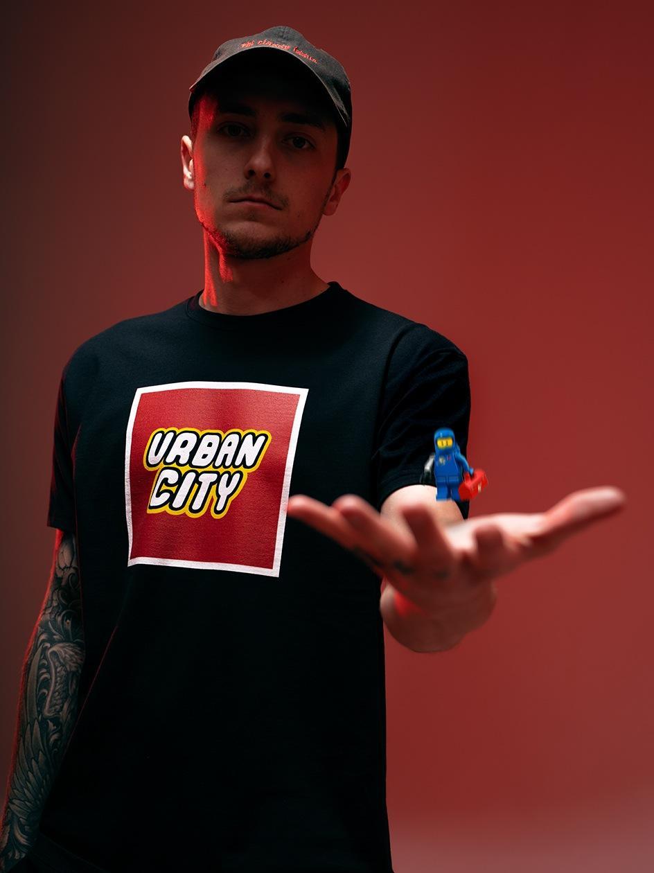 Koszulka Z Krótkim Rękawem Urban City Brick City Czarna