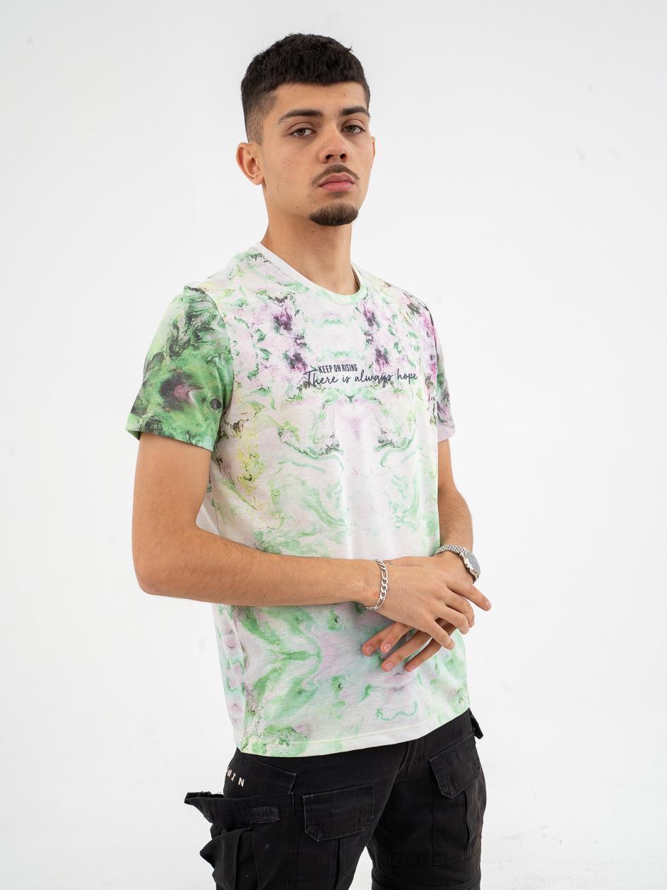 Koszulka Z Krótkim Rękawem Breezy Always Hope Tie Dye Neon Zieolona