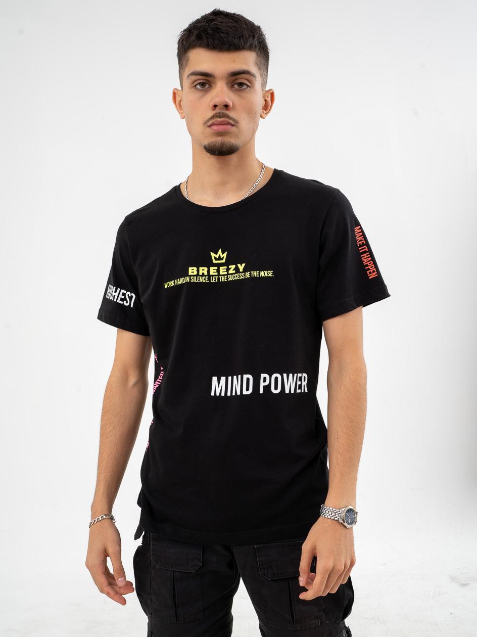 Koszulka Z Krótkim Rękawem Breezy Mind Power Czarna