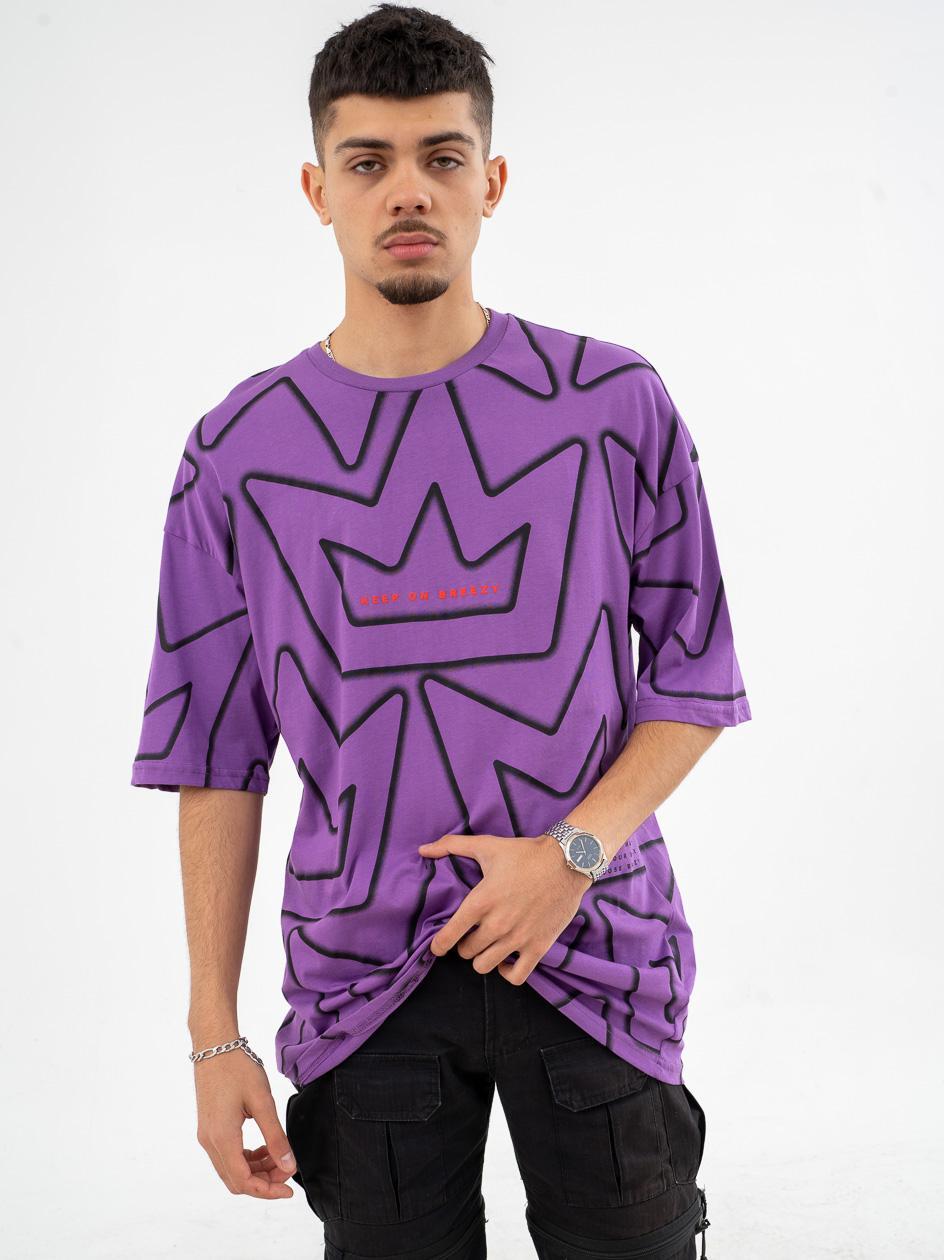 Koszulka Z Krótkim Rękawem Breezy Crown Shadow Fioletowa