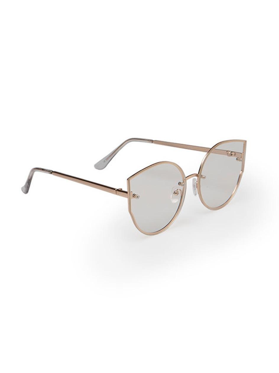 Okulary Przeciwsłoneczne Jeepers Peepers Clean Round Złote