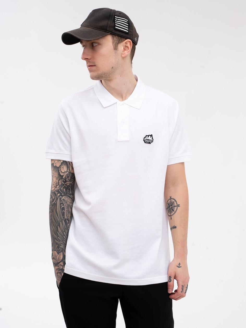 Koszulka Polo UrbanCity Logo Biała