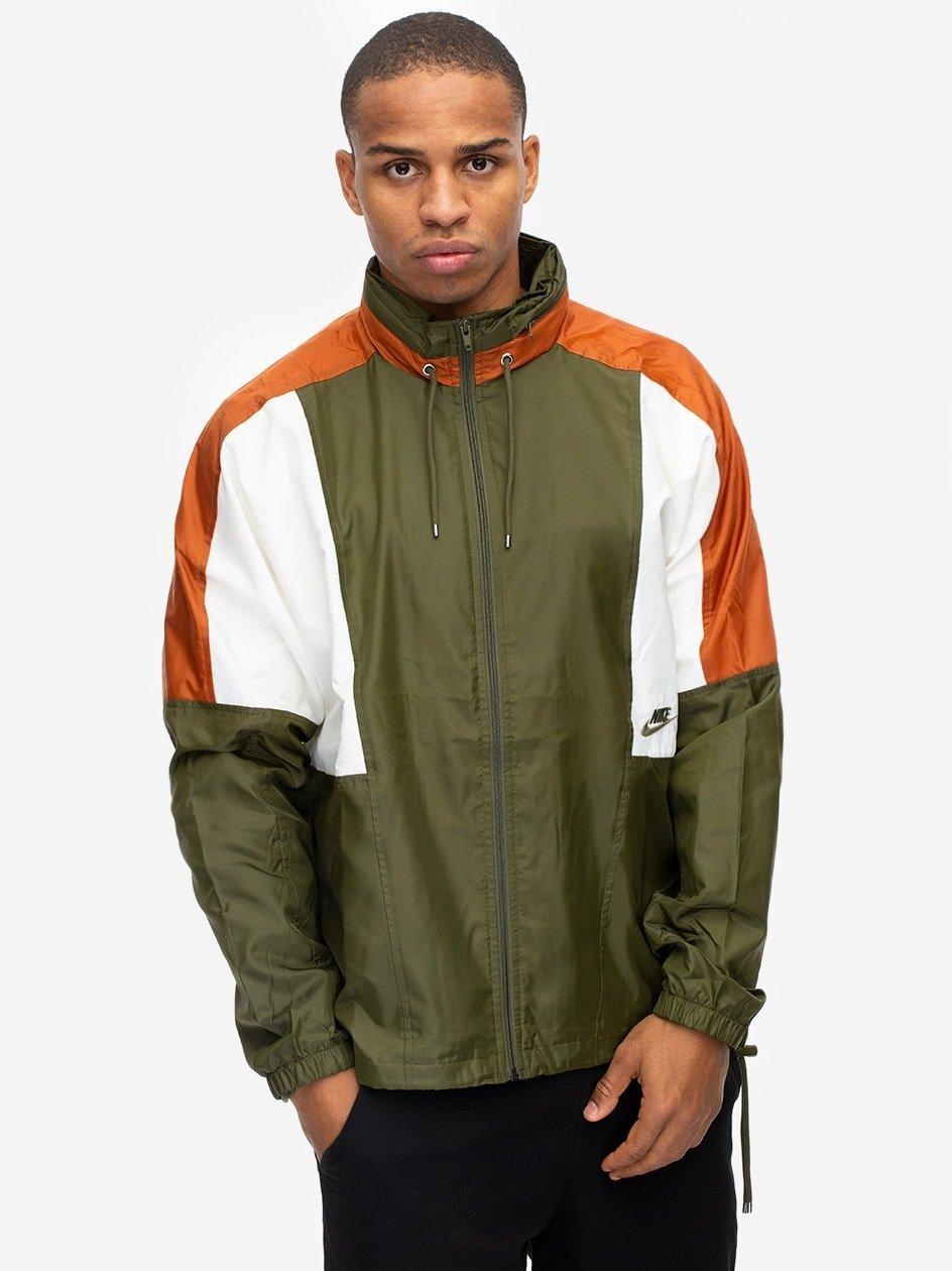 NSW Re-Issue JKT WVN Olive Canvas Dark Russet Sail Olive Canvas