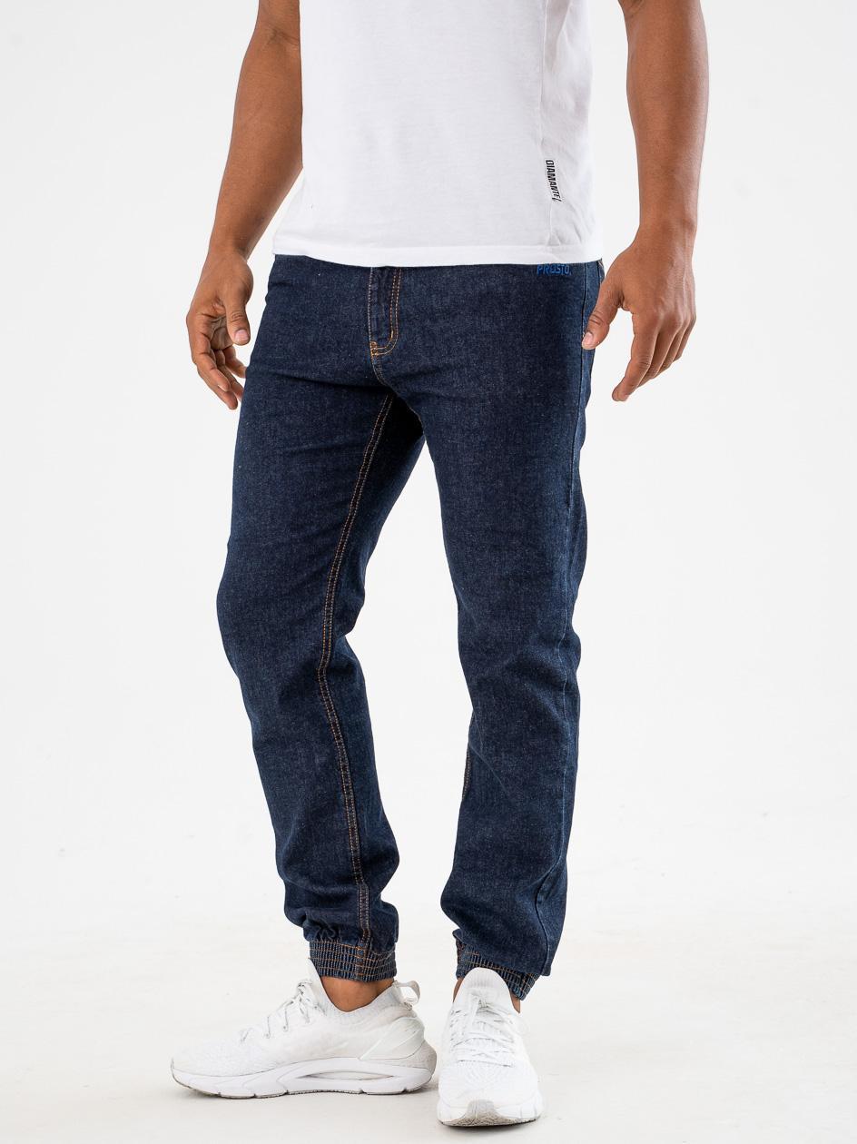 Spodnie Jeansowe Jogger Prosto Munk Ciemne Niebieskie