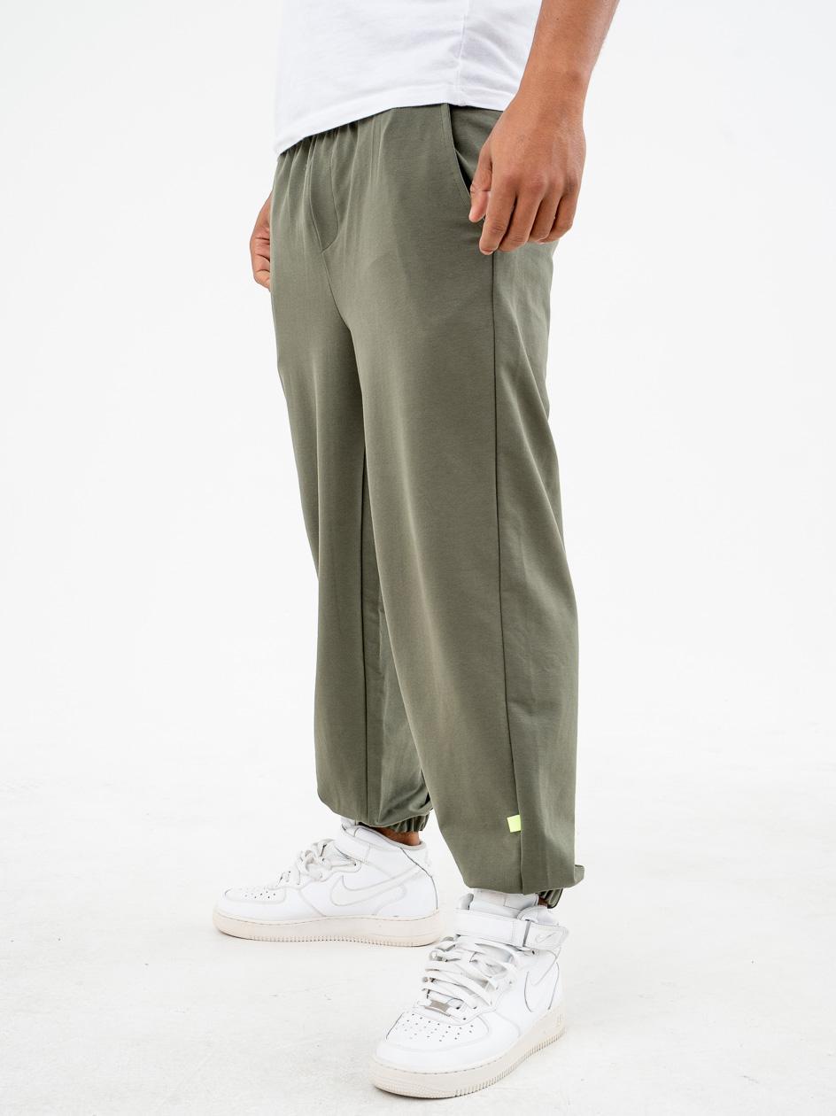 Spodnie Dresowe Breezy Straight Oliwkowe
