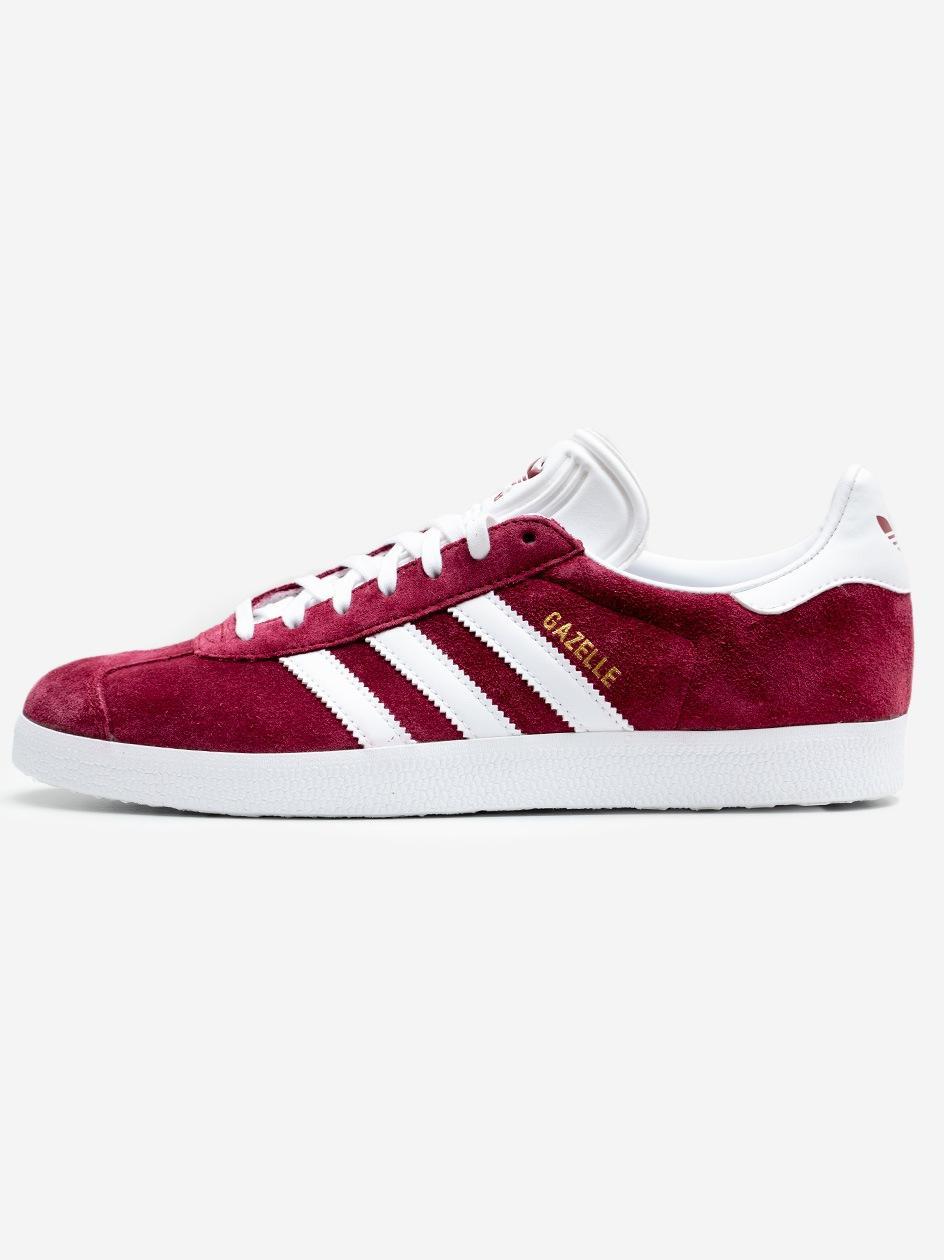 Buty Sportowe Sneakers adidas Originals Gazelle Bordowe / Białe
