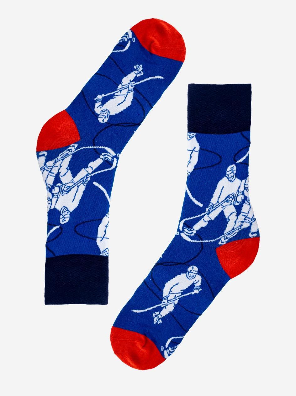 Długie Skarpety MyStars Hockey Niebieskie