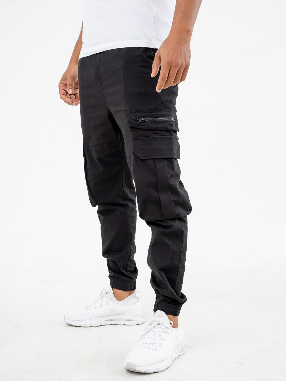 Spodnie Materiałowe Breezy Simple Cargo Czarne