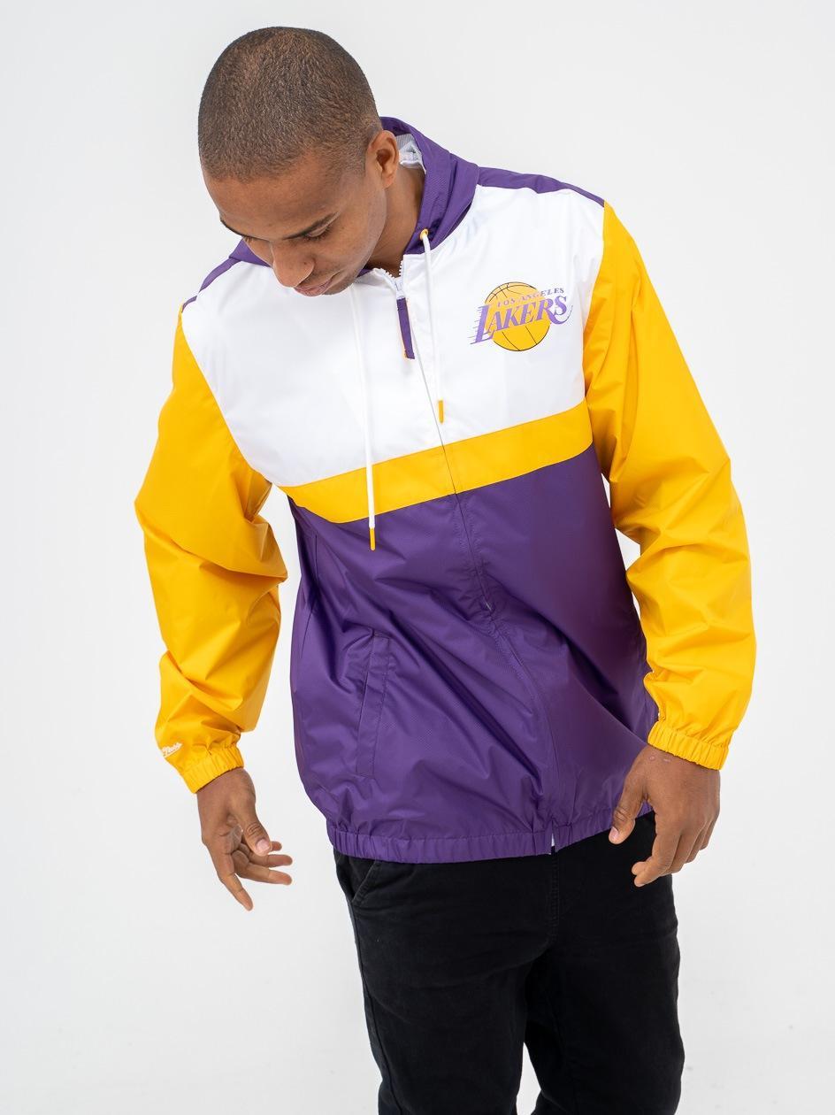 Kurtka Wiatrówka Mitchell & Ness NBA Los Angeles Lakers Margin Of Victory Fioletowa