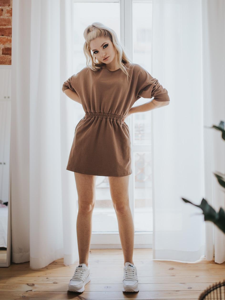 Sukienka Point X Classic Jasna Brązowa