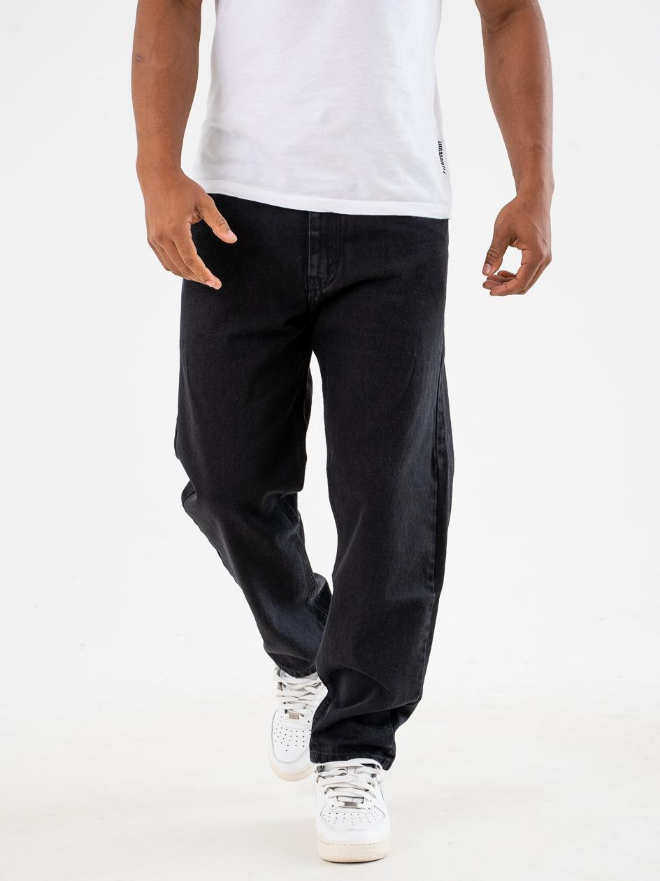 Spodnie Jeansowe Baggy Prosto Flavour XXI Czarne