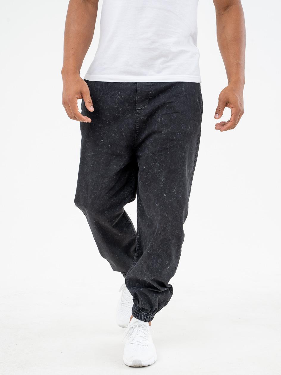 Spodnie Materiałowe Jogger Breezy Shadow Czarne