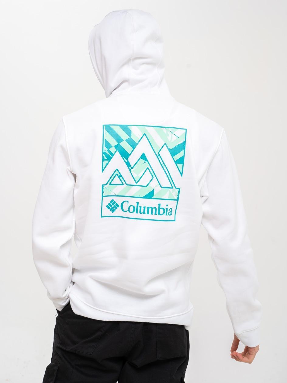 Bluza Z Kapturem Columbia CSC Basic Logo II Biała