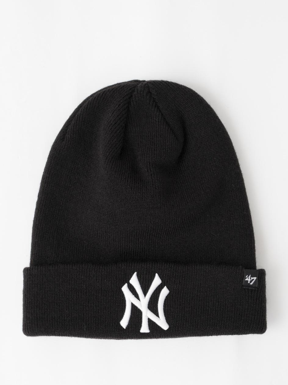 Czapka Zimowa 47 Brand New York Yankess MLB Haymaker '47 Czarna / Biała
